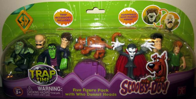 Scooby-Doo Trap Time Five Figure Pack Who Dunnit Heads action figure