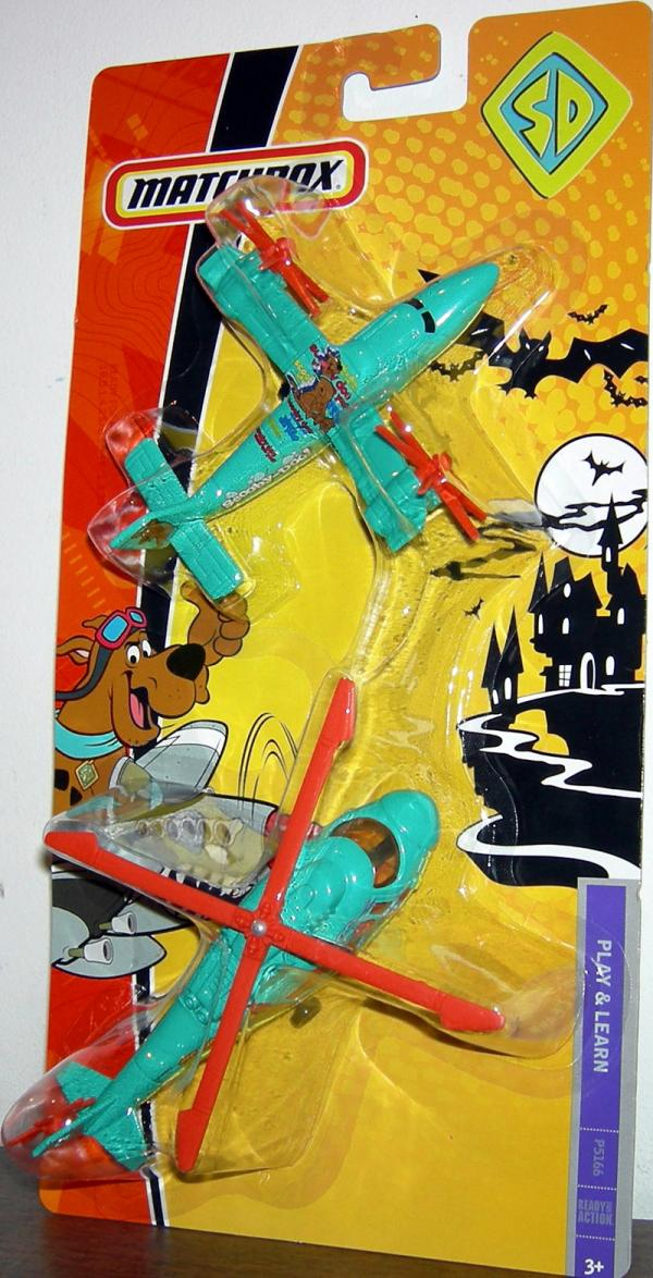 Scooby-Doo Fire Patrol Airplane Helicopter 2-Pack Matchbox Vehicles