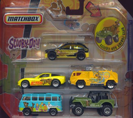 Scooby-Doo Matchbox 5-Pack Scooby 4X4 Safari Club sticker