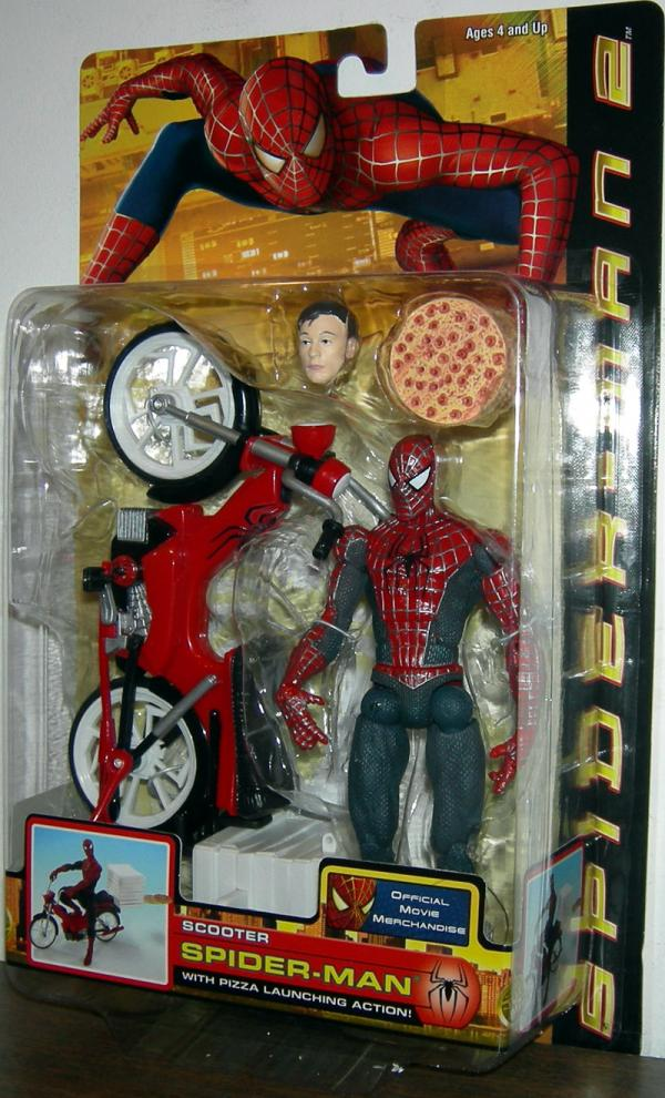 Scooter Spider-Man Action Figure Movie 2 Pizza Launching