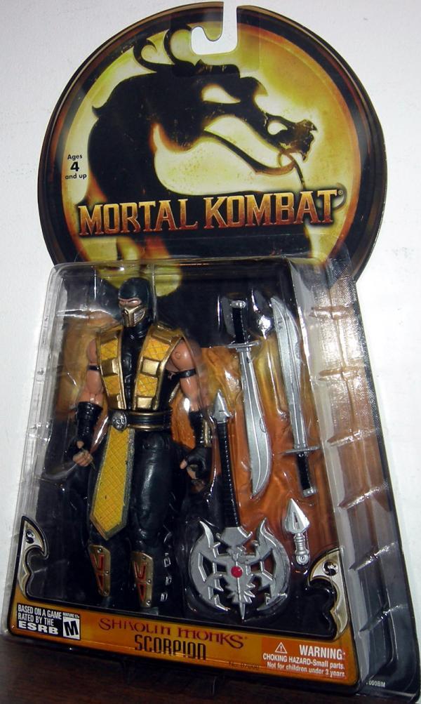 Scorpion Action Figure Shaolin Monks Mortal Kombat Jazwares