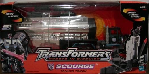 Scourge Tanker Truck Figure Transformers Robots Disguise