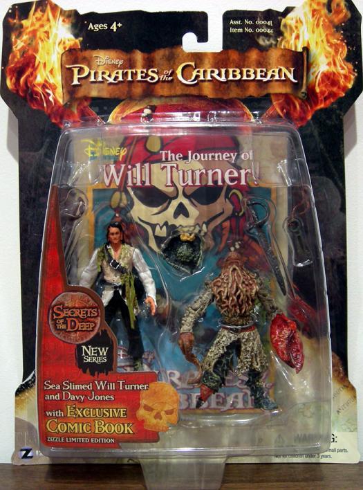Sea Slimed Will Turner Davy Jones 2-Pack 3 1-2 inch