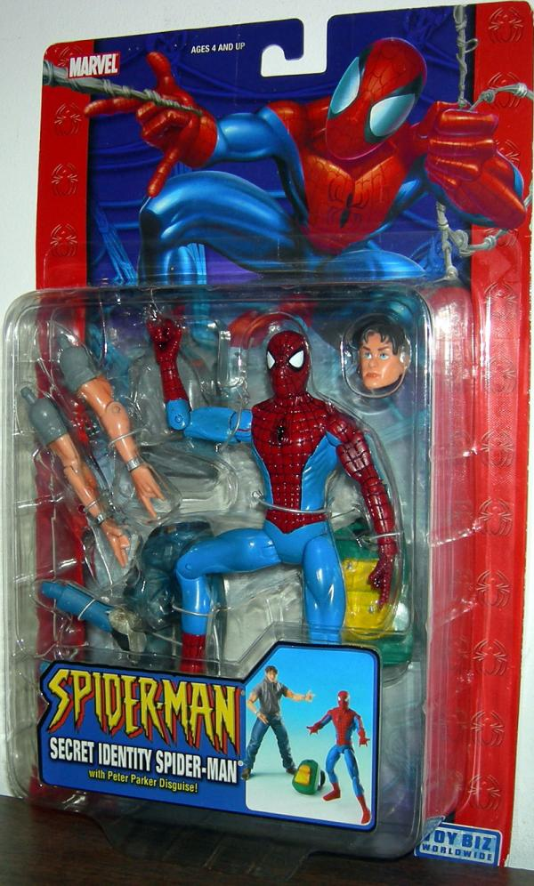 Secret Identity Spider-Man Classic Action Figure Toy Biz