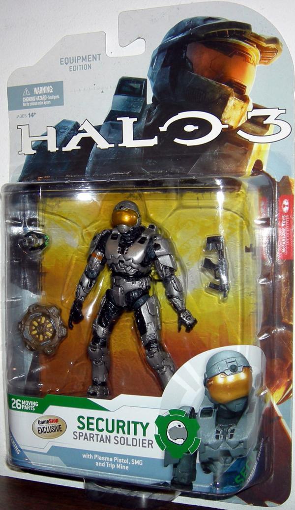 Spartan Soldier Security Figure Steel Halo 3 McFarlane