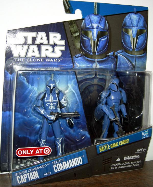Senate Commando Captain and Senate Commando Star Wars Action Figures