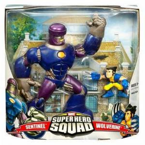 Sentinel Wolverine Figures Super Hero Squad Hasbro