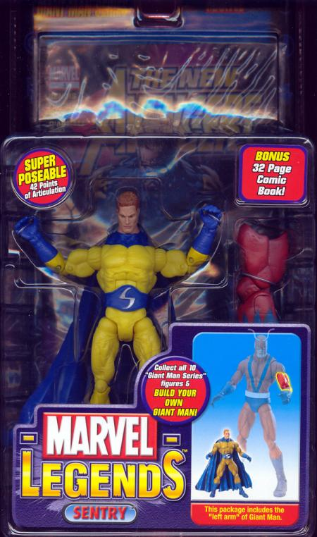 Sentry Marvel Legends Bright Yellow Variant action figure