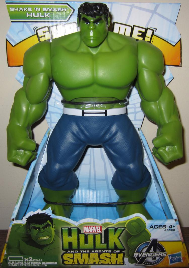 Shake N Smash Hulk Agents SMASH action figure Hasbro