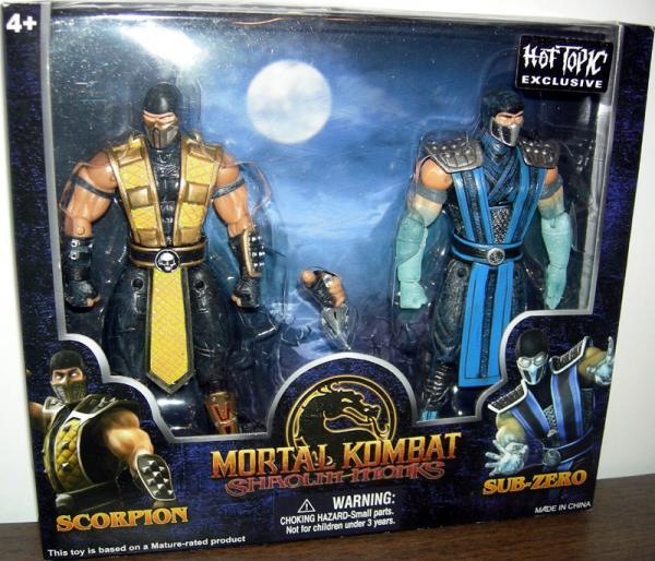 Scorpion Sub-Zero Figures Hot Topic Mortal Kombat Shaolin Monks
