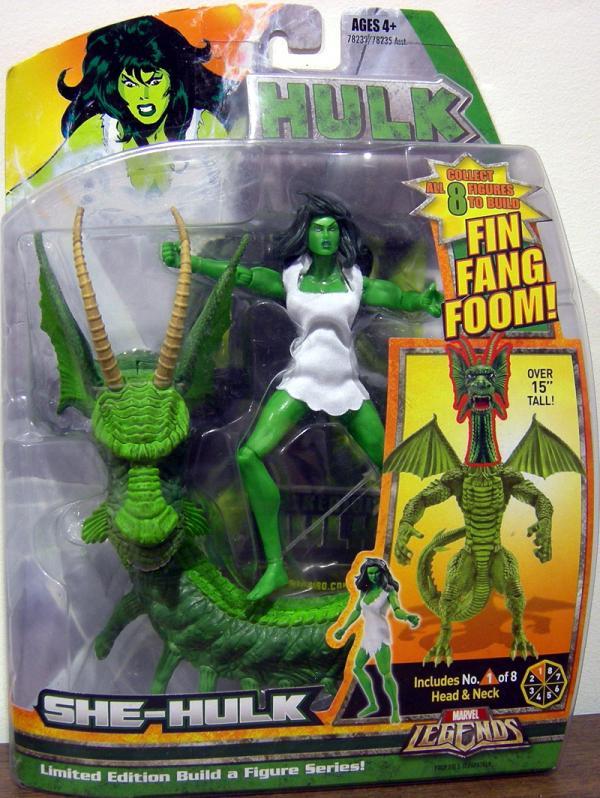 She-Hulk Marvel Legends Fin Fang Foom series