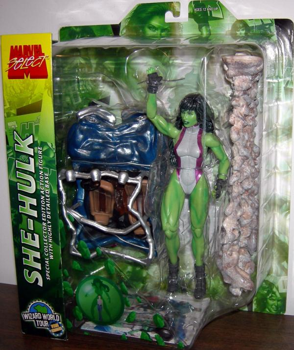 She-Hulk Marvel Select Action Figure Wizard World Tour Fans Choice