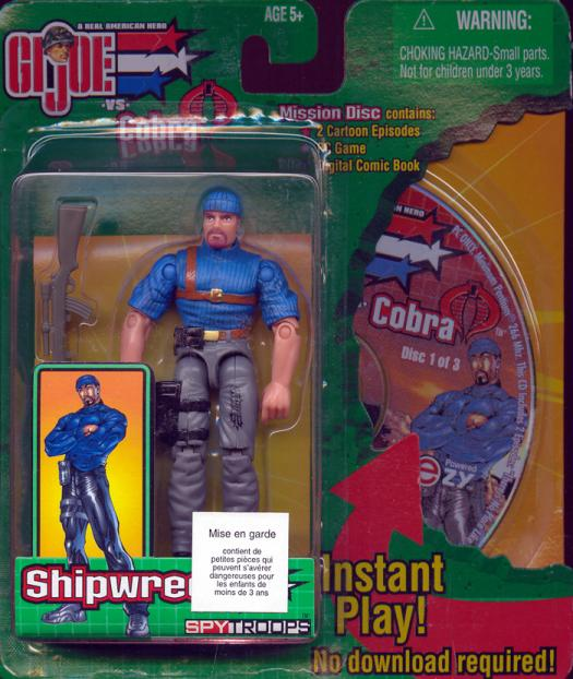 Shipwreck Figure Mission Disc GI Joe vs Cobra SpyTroops