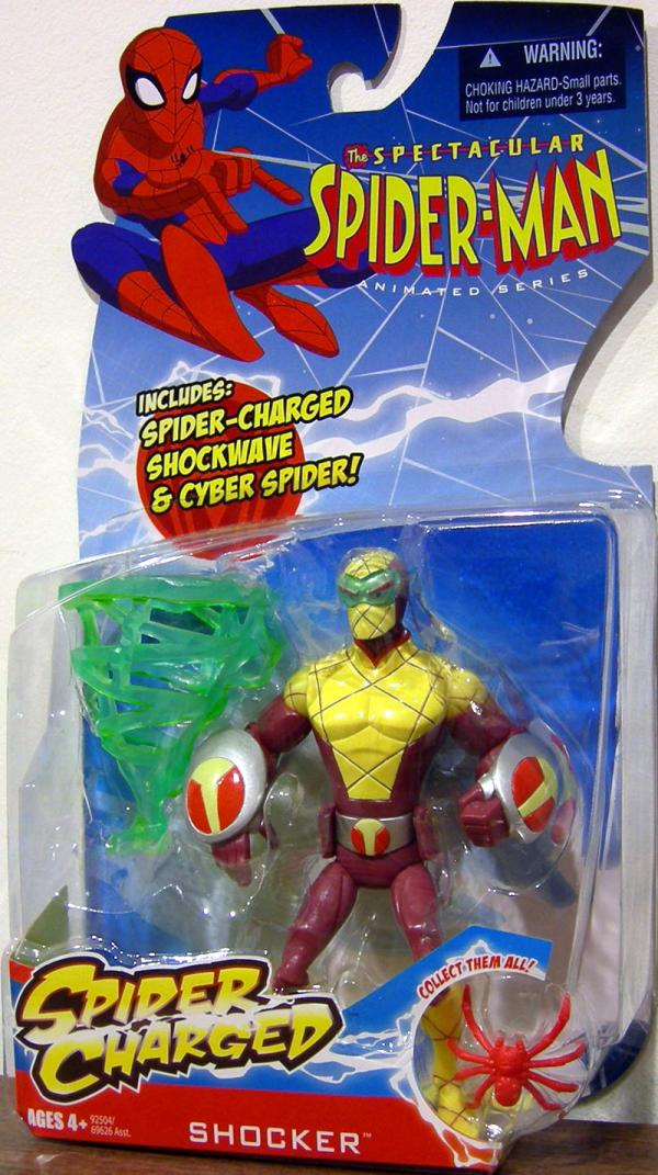 Shocker Spectacular Spider-Man Animated Series Spider Charged action figure