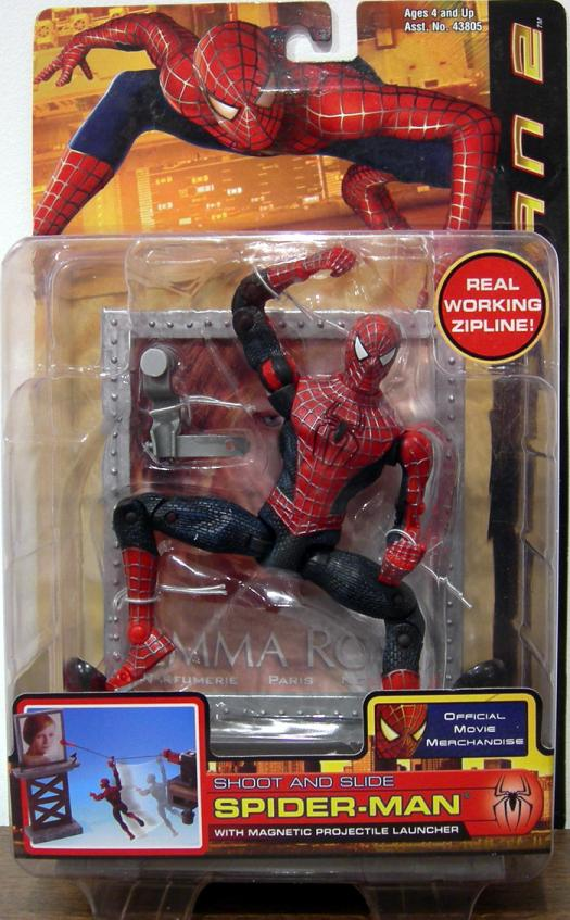 Shoot Slide Spider-Man Action Figure 2 Movie Toy Biz