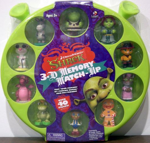 Shrek 3-D Memory Match-Up Game