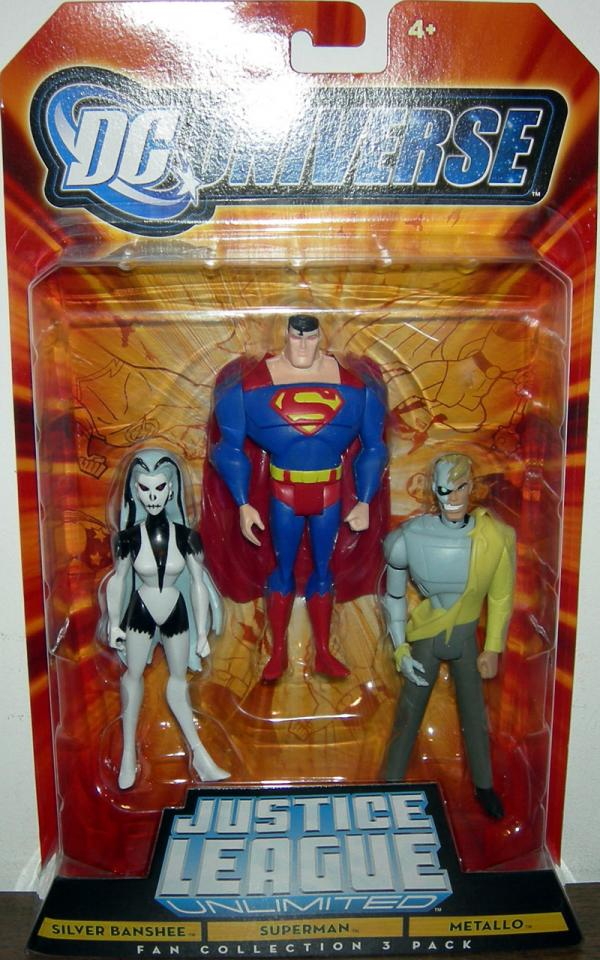 Silver Banshee Superman Metallo Figures Fan Collection 3-Pack