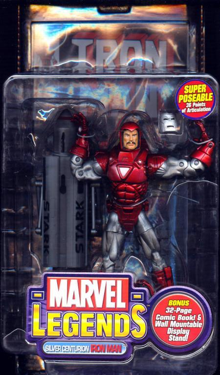 Silver Centurion Iron Man Figure Marvel Legends Series VII Toy Biz