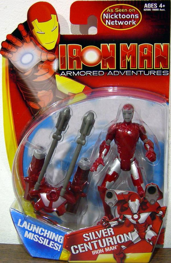 Silver Centurion Iron Man Action Figure Armored Adventures