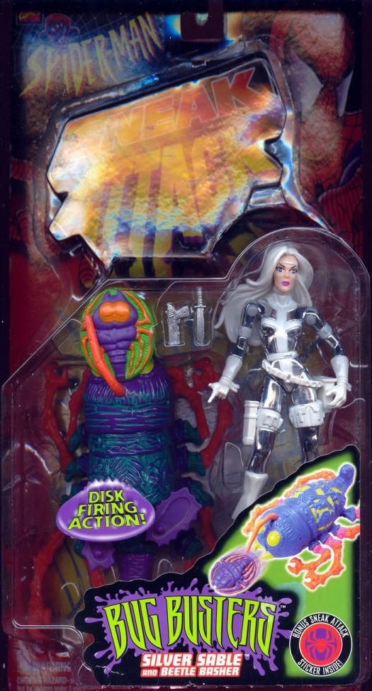 Silver Sable Figure Spider-Man Sneak Attack Bug Busters