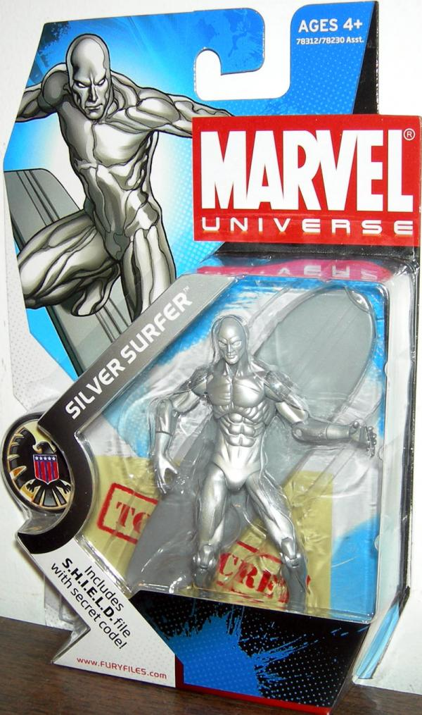 Silver Surfer Action Figure Marvel Universe 003 Hasbro