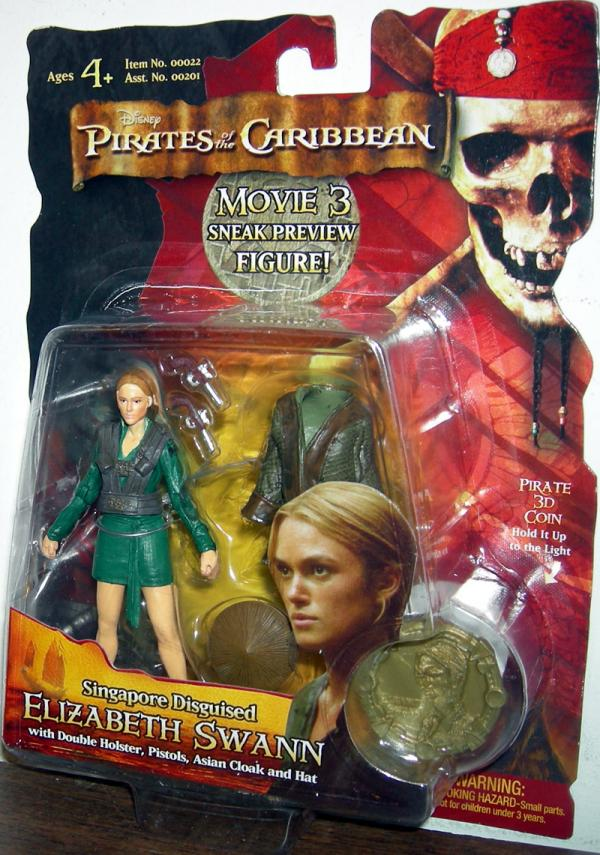 Singapore Disguised Elizabeth Swann Sneak Preview action figure