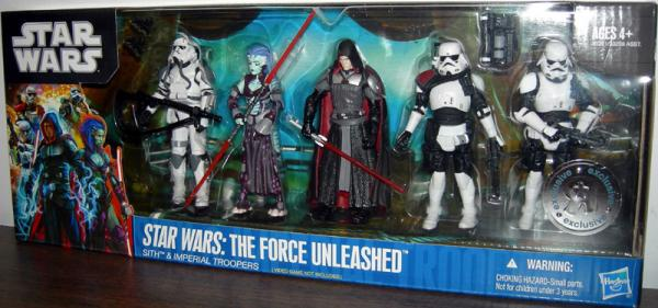 Star Wars The Force Unleashed Sith and Imperial Troopers Action Figures