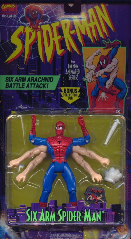 Six Arm Spider-Man Figure Arachnid Battle Attack