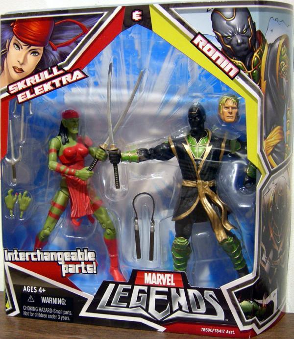 Skrull Elektra Ronin 2-Pack Marvel Legends action figures