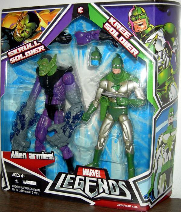 Skrull Soldier and Kree Soldier Marvel Legends Action Figures
