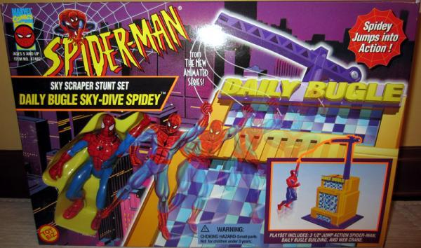 Sky Scraper Stunt Set Spider-Man Animated action figure