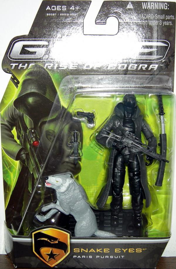 Snake Eyes Paris Pursuit GI Joe Rise Cobra Gray Timber action figure