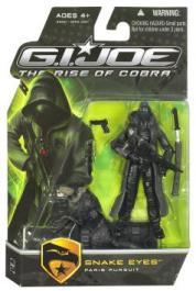 Snake Eyes Paris Pursuit Figure Black Timber GI Joe Rise Cobra