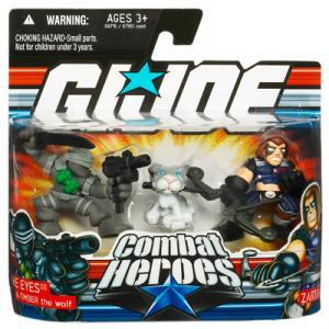 Snake Eyes Timber Wolf vs Zartan GI Joe Combat Heroes action figures