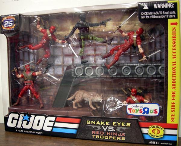 Snake Eyes vs Red Ninja Troopers 6-Pack 25th Anniversary