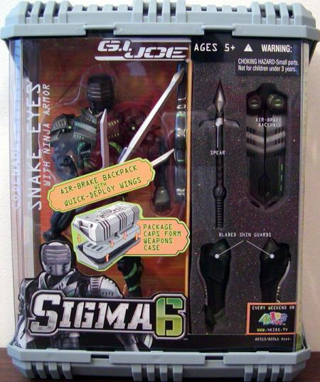 Snake Eyes ninja armor Sigma 6