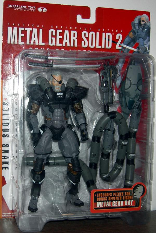Solidus Snake Metal Gear Solid 2 action figure