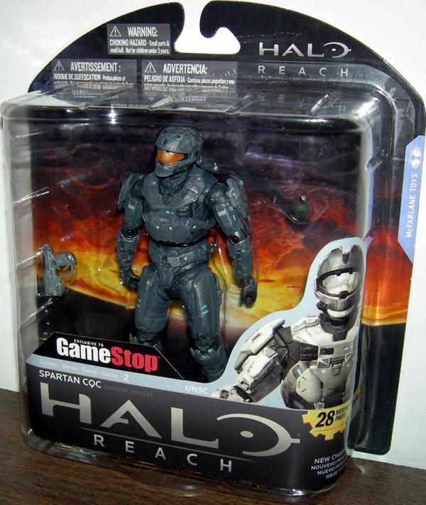 Spartan CQC Custom Male Steel Action Figure Halo Reach GameStop