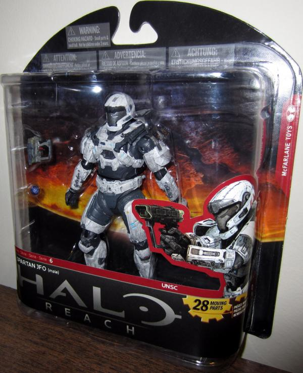 Spartan JFO Male White Series 6 Walgreens Halo Reach action figure