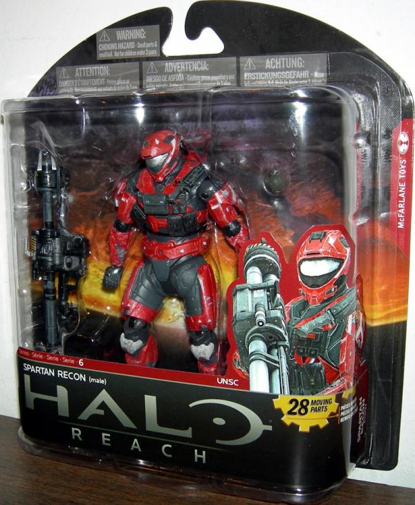 Spartan Recon male, series 6, team red