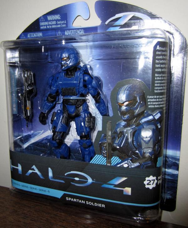 Spartan Soldier Figure Halo 4 series 1 Blue McFarlane