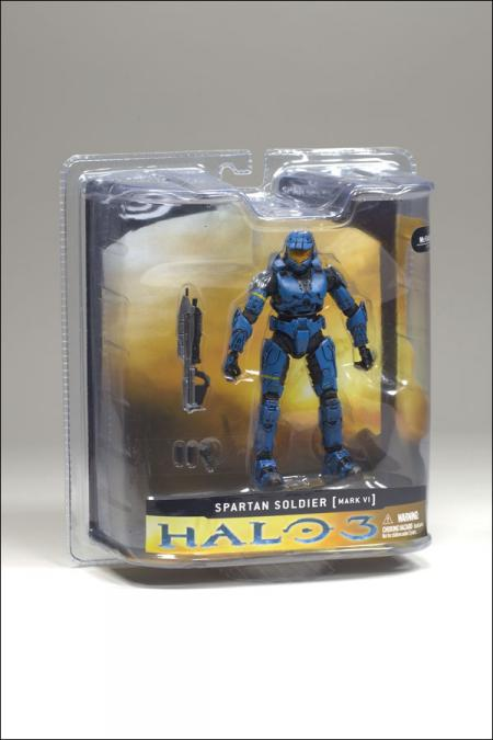 Spartan Soldier Halo 3, Mark VI, blue