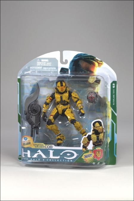 Spartan Soldier CQB Gold Action Figure Halo 3 FYE Suncoast Exclusive