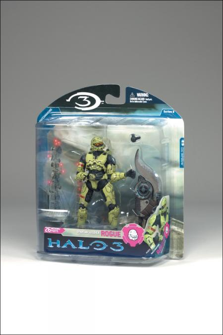 Spartan Soldier Rogue olive, Halo 3, series 3, multiplayer