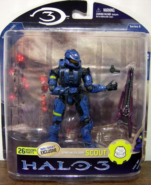 Spartan Soldier Scout Halo 3, series 3, blue