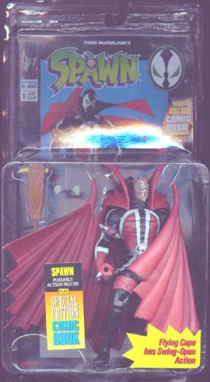 Spawn unmasked, comic card