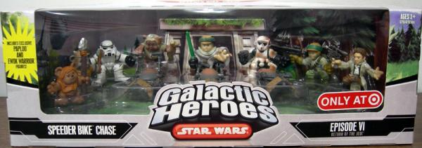 Speeder Bike Chase Figures 9-Pack Galactic Heroes
