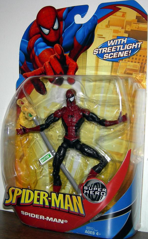 Spider-Man Action Figure with Streetlight Scene McFarlane Hasbro