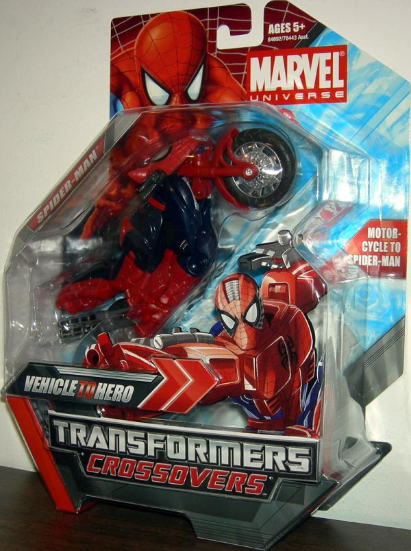 Spider-Man Transformers Crossovers Marvel Universe Action Figure