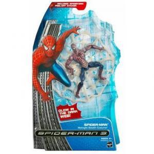 Spider-Man 3 Midnight Stealth Costume Glow Dark Web action figure
